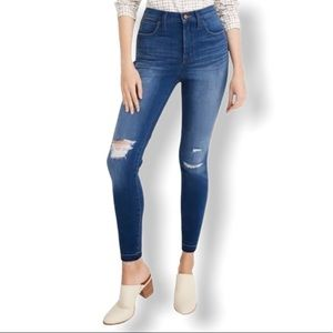Madewell Ripped 10-In High Waist Crop Skinny Jeans